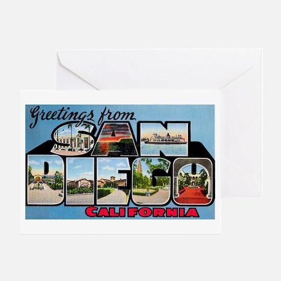 San Diego California Greetings Greeting Card