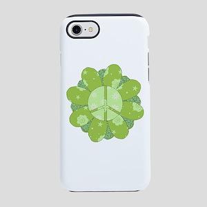 Green Flower Peace iPhone 8/7 Tough Case
