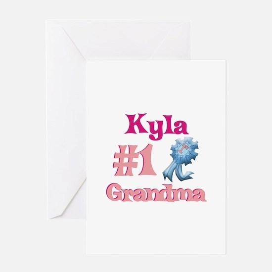 Kyla - #1 Grandma Greeting Card
