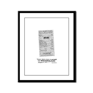 WMD Receipt Framed Panel Print