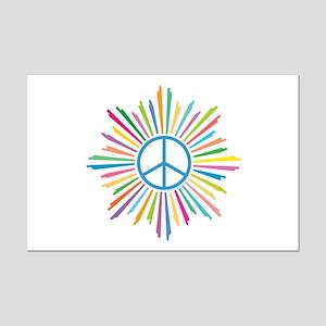 Peace Symbol Star Mini Poster Print