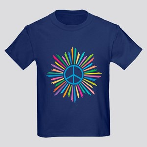 Peace Symbol Star Kids Dark T-Shirt