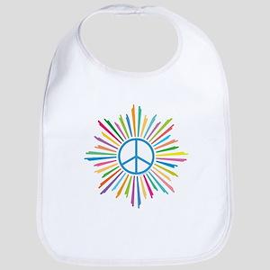 Peace Symbol Star Bib