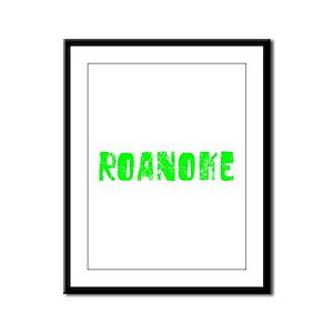 Roanoke Faded (Green) Framed Panel Print