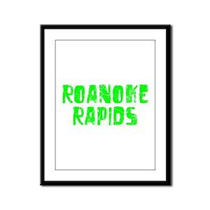 Roanoke Rapids Faded (Green) Framed Panel Print