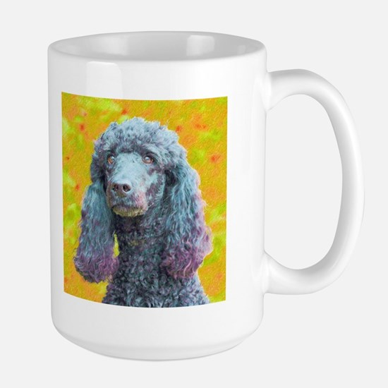 Pretty Poodle Large Mug