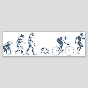 TRIATHLETE EVOLUTION Bumper Sticker