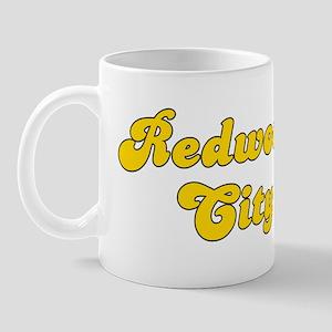 Retro Redwood City (Gold) Mug