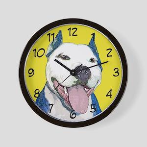 Pop Art Pit Bull Wall Clock