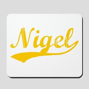 Vintage Nigel (Orange) Mousepad