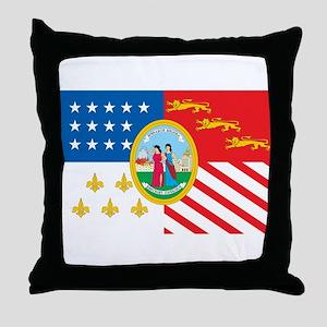 Detroit Flag Throw Pillow