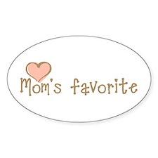 Mom's Favorite Oval Sticker