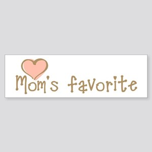 Mom's Favorite Bumper Sticker