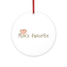 Mom's Favorite Ornament (Round)