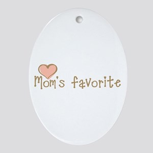Mom's Favorite Oval Ornament