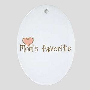Mom's Favorite Oval Ornament