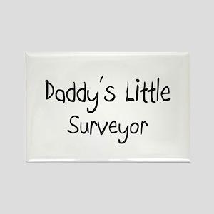 Daddy's Little Surveyor Rectangle Magnet