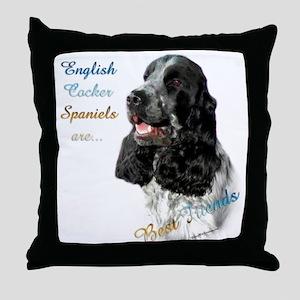 English Cocker Best Friend1 Throw Pillow