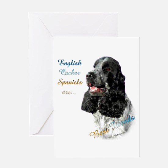 English Cocker Best Friend1 Greeting Card