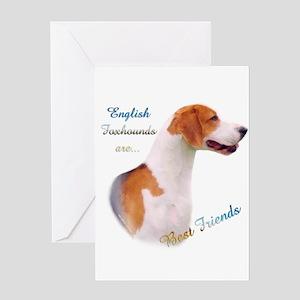 English Fox Best Friend1 Greeting Card