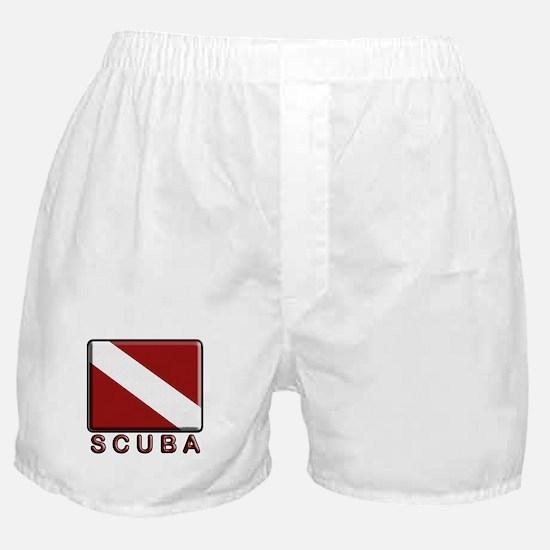S C U B A Dive Flag Boxer Shorts