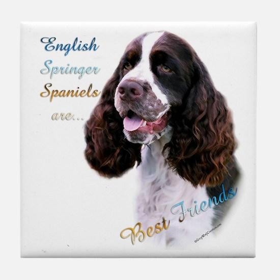 English Springer Best Friend1 Tile Coaster