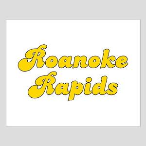 Retro Roanoke Rapids (Gold) Small Poster