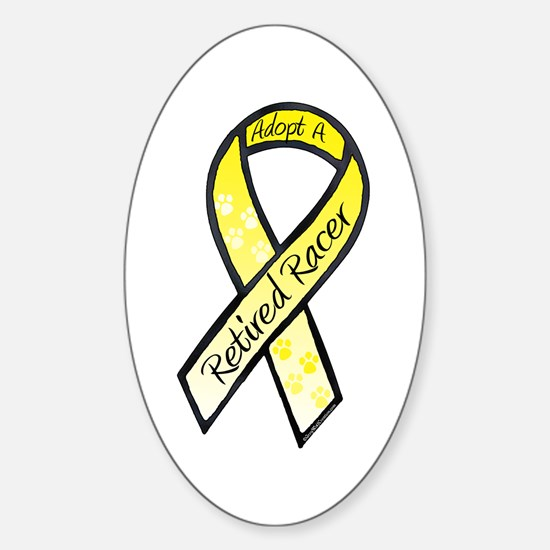 Racer Yellow Oval Decal