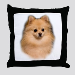 Pomeranian Portrait Throw Pillow