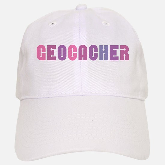 Geocacher Arrows in Pinks Baseball Baseball Cap