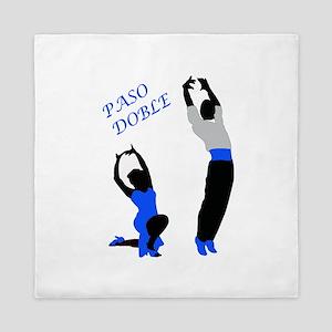 Paso Doble Dancers Blue Queen Duvet