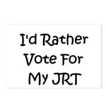 I'd Rather Vote For My JRT Postcards (Package of 8