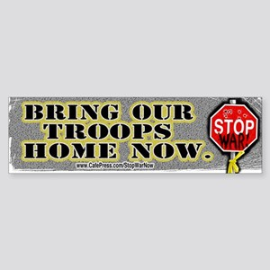 Sample Bring Our Troops Home Bumper Sticker