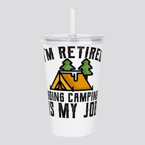 Camping Shirt for Newl Acrylic Double-wall Tumbler