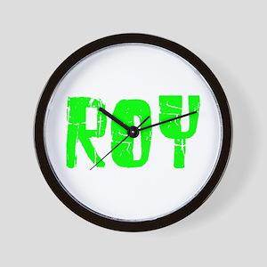 Roy Faded (Green) Wall Clock