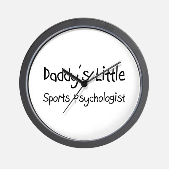 Daddy's Little Sports Psychologist Wall Clock