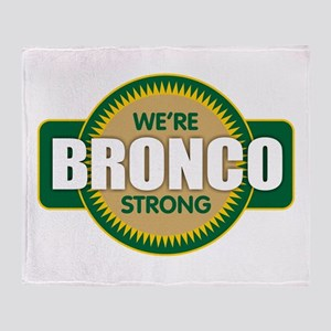 Bronco Strong Throw Blanket