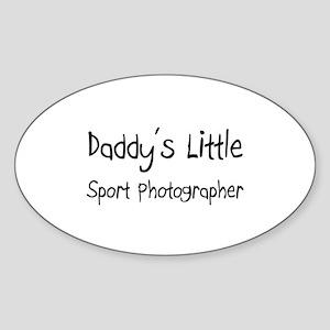 Daddy's Little Sport Photographer Oval Sticker