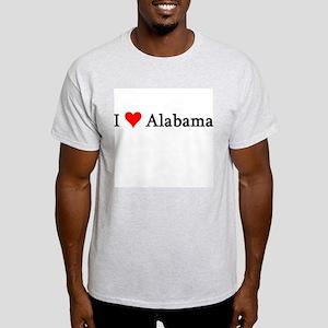 I Love Alabama Ash Grey T-Shirt