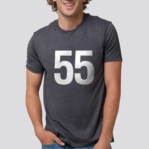 Number 55 Helvetica Women's Dark T-Shirt