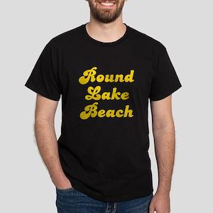Retro Round Lake B.. (Gold) Dark T-Shirt