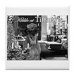 Kibble at Tiffany's Tile Coaster