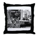 Kibble at Tiffany's Throw Pillow