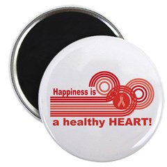 Happiness Healthy Heart Magnet