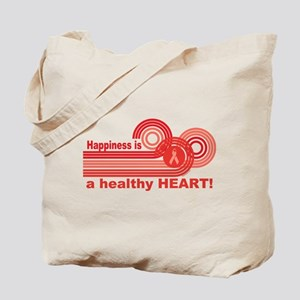 Happiness Healthy Heart Tote Bag