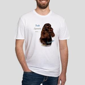 Field Spaniel Best Friend1 Fitted T-Shirt