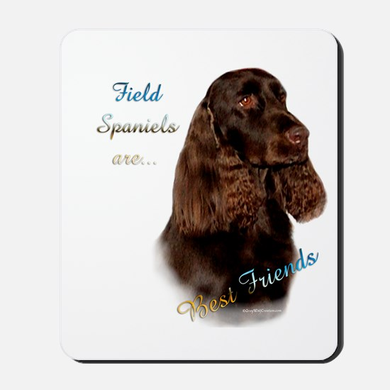 Field Spaniel Best Friend1 Mousepad