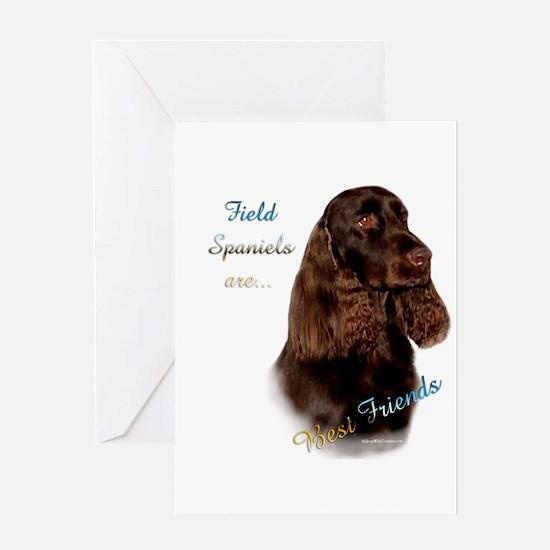 Field Spaniel Best Friend1 Greeting Card