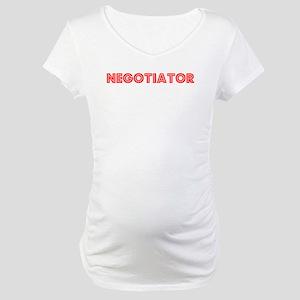 Retro Negotiator (Red) Maternity T-Shirt