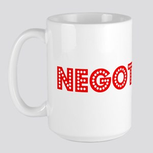 Retro Negotiator (Red) Large Mug